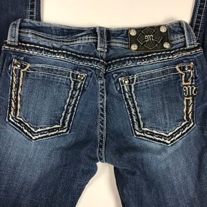 MISS ME Bootcut Crystal Embellished Jeans Sz 28